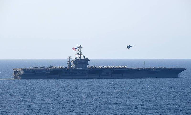 المدمرة الأمريكية هاري ترومان في قبالة سواحل المتوسط - (هاري ترونان)