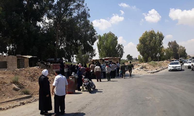 عودة جزء من أهالي داريا إلى مدينتهم في الغوطة الغربية (المكتب التنفيذي لمدينة داريا)