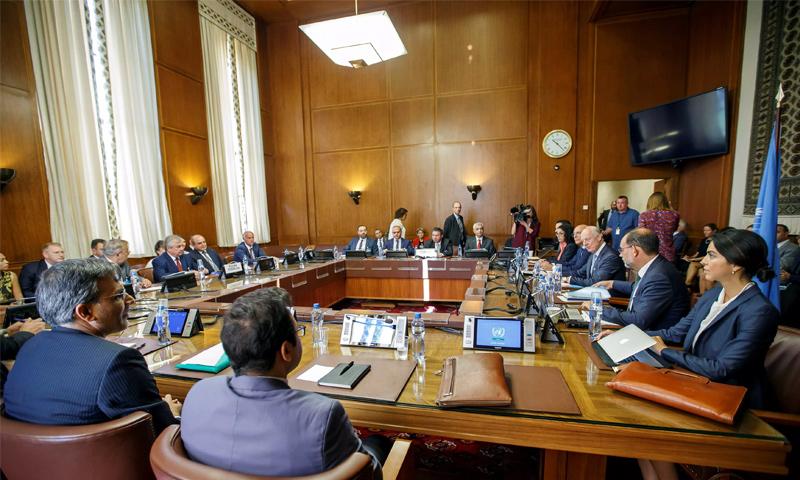 مباحثات اللجنة الدستورية السورية في جنيف- 11 من أيلول 2018 (رويترز)