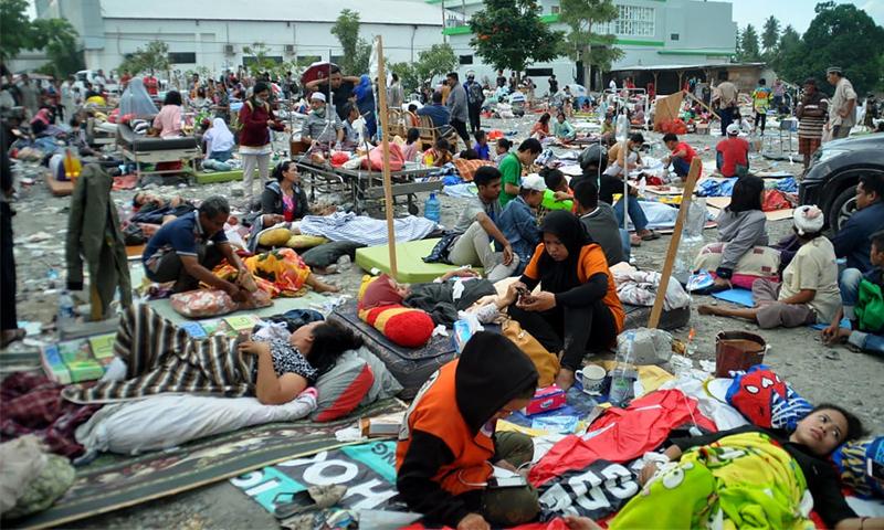 ضحايا زلزال وتسونامي ضرب مدينة بالو الإندونيسية- 28 أيلول 2018 (AFP)