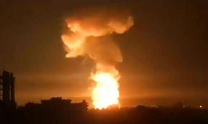 قصف استهدف مدينة اللاذقية السورية- الاثنين 17 أيلول (فيس بوك)