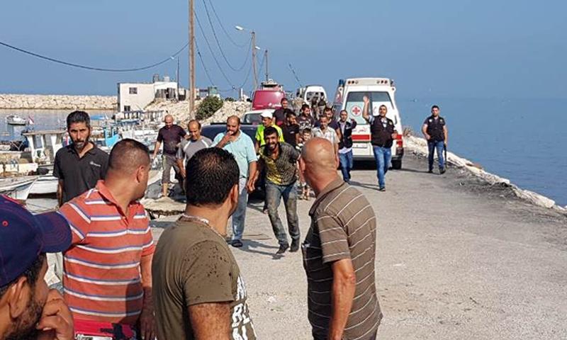 إنقاذ لاجئين سوريين قبالة سواحل عكار اللبنانية- 22 أيلول 2018 (NNA)