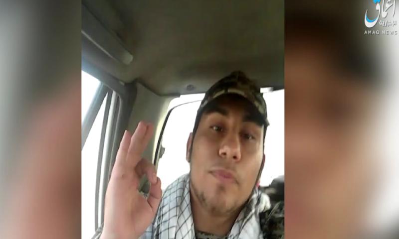أحد منفذي هجوم الأهواز جنوبي إيران بحسب فيديو نشره تنظيم الدولة الاسلامية 22 أيلول 2018 (أعماق)