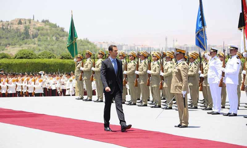 الأسد خلال مراسم تأدية القسم الجمهوري في قصر الشعب عام 2014 - (مجلس الشعب)