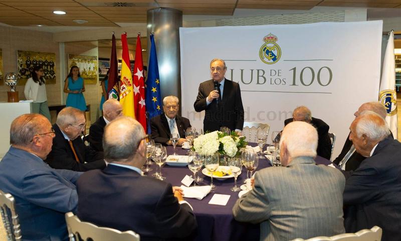 اجتماع رئيس نادي ريال مدريد مع أعضاء الجمعية العمومية للنادي (موقع ريال مدريد)
