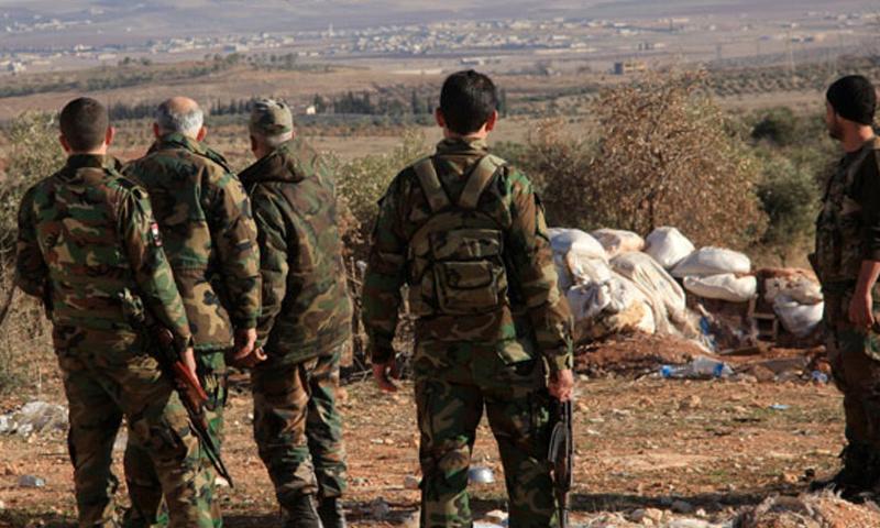 عناصر من قوات الأسد في أثناء الحملة العسكرية على درعا - أيار 2018 (انترنت)