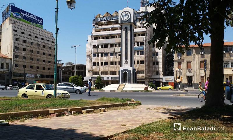 الساعة الجديدة وسط مدينة حمص – 19 من آب 2018 (عنب بلدي)