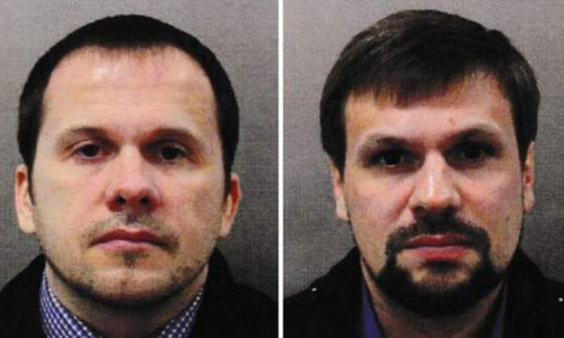 المتهمان بتسميم الجاسوس الروسي سيرغي سكريبل على الأراضي البريطانية (Met Police)