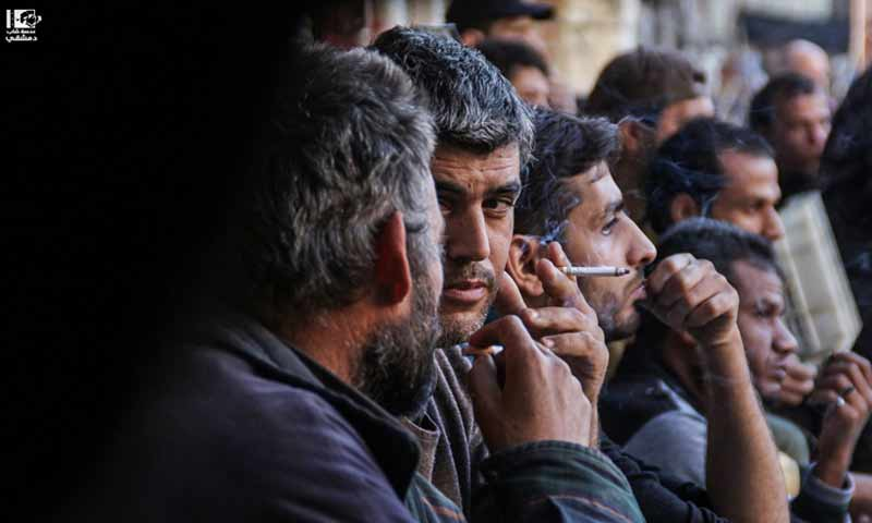شباب سوريون في أحياء دمشق الجنوبية - 2 شباط 2018 (عدسة شاب دمشقي)