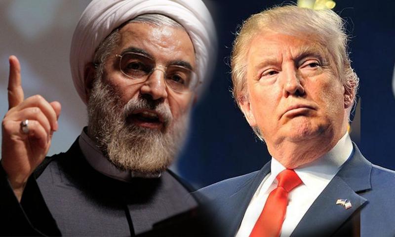 الرئيس الإيراني حسن روحاني، والرئيس الأمريكي دونالد ترامب (عنب بلدي)