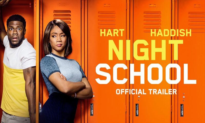 """إعلان فيلم """"night school"""" (يوتيوب)"""