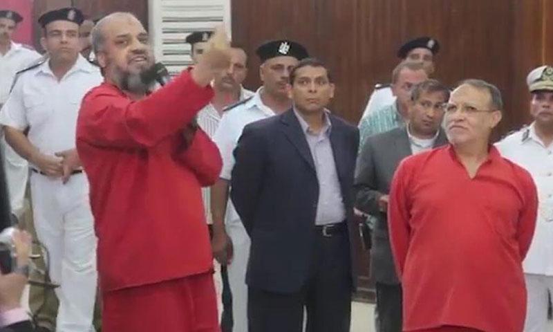 محمد البلتاجي وعصام العريان في محكمة القاهوة (اليوم السابع)