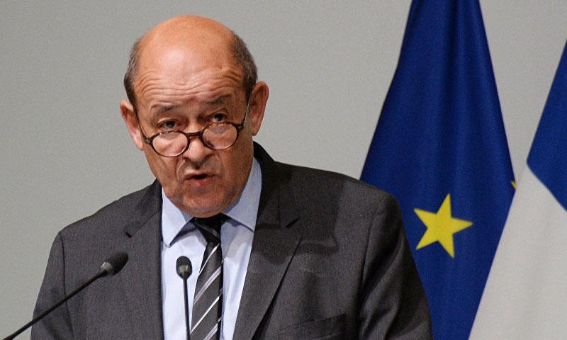 وزير الخارجية الفرنسي جان إيف لودريان (فرانس برس)