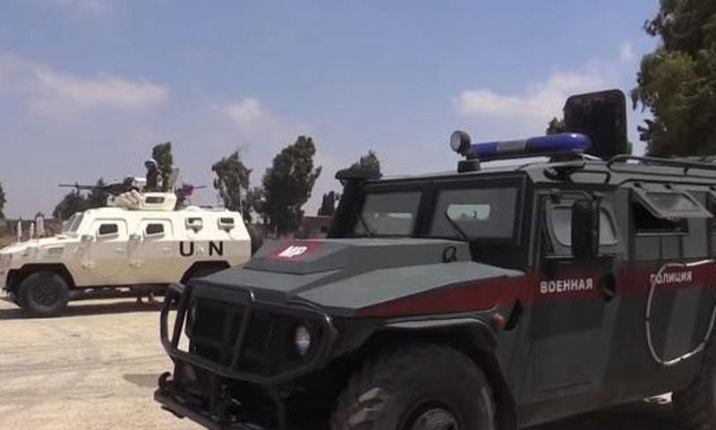الشرطة الروسية الى جانب قوات اليونيفل على حدود اسرائيل (روسيا اليوم)