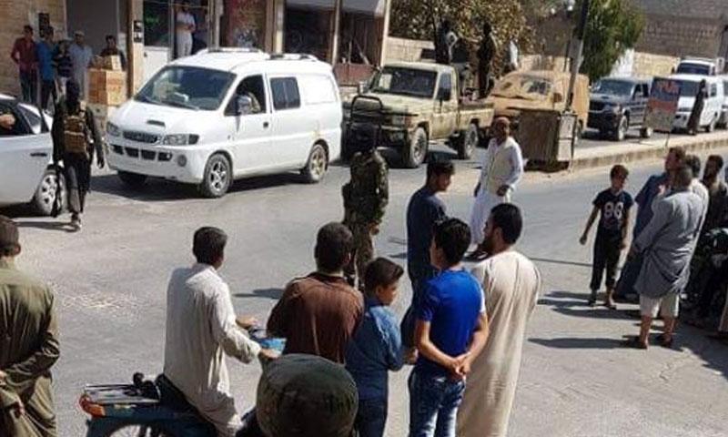 أثناء تنفيذ تحرير الشام حكم الاعدام على شاب في تلمنس 20 أيلول 2018 (تلمنس فيس بوك)
