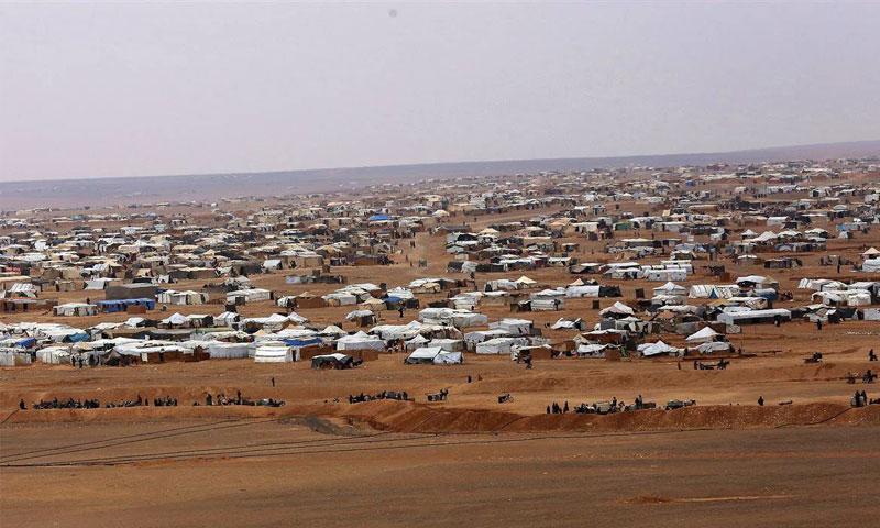 مخيم الركبان الحدودي على الحدود السورية الأردنية (صفحة ادارة المخيم في فيسبوك)