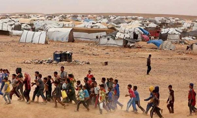 مخيم الركبان الحدودي على الحدود السورية الأردنية (ادارة المخيم في فيسبوك)