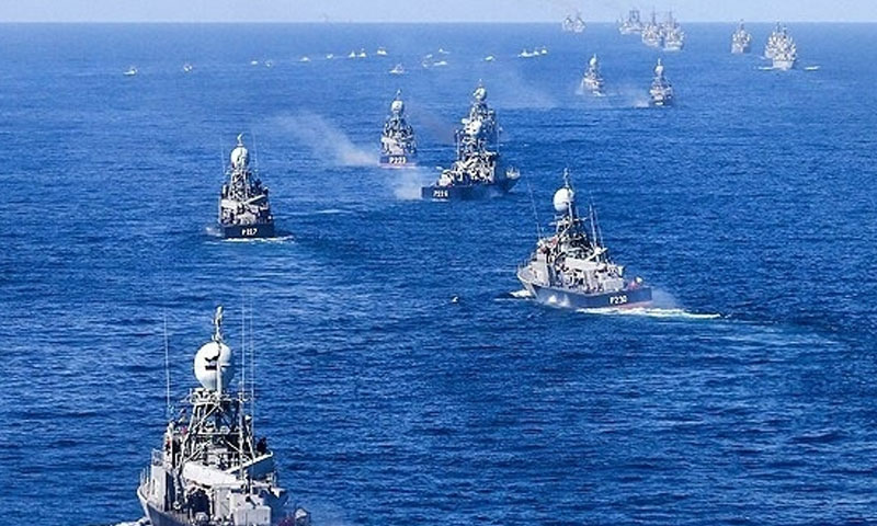 سفن حربية إيرانية في البحر -صورة تعبيرية (وكالة فارس)