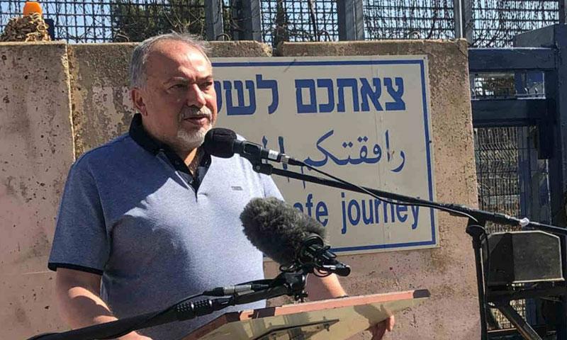 وزير الدفاع الإسرائيلي، أفيغدور ليبرمان (هيئة البث الاسرائيلي)