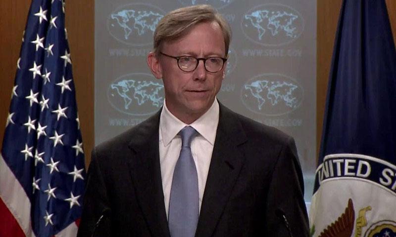 المندوب الأمريكي للشؤون الإيرانية بريان هوك )يوتيوب)