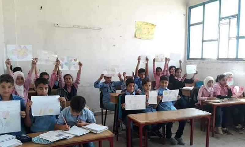 طلاب مدارس في ريف درعا- صورة تعبيرية (شبكة درعا اليوم)
