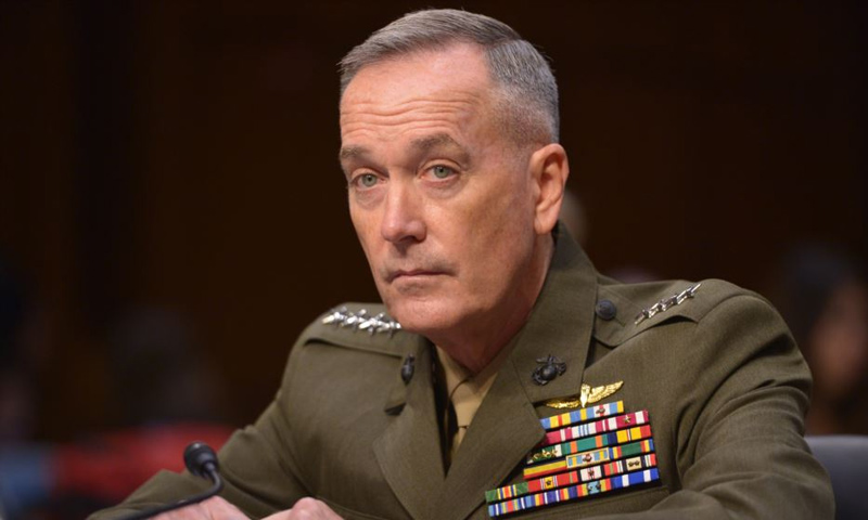 الجنرال جونيف دانفورد رئيس هيئة الأركان المشتركة الامريكية - (انترنت)