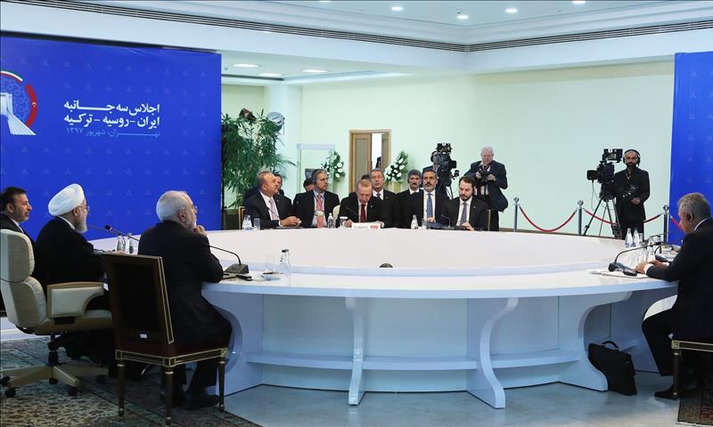 قمة لزعماء إيران وتركيا وروسيا في طهران - 7 أيلول 2018 (الأناضول)