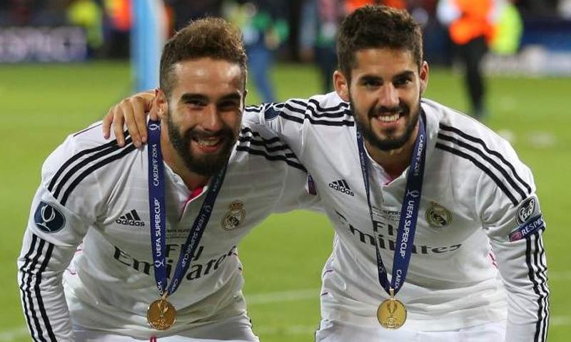 لاعبا ريال مدريد فرانشيسكو إيسكو وداني كارفخال (موقع ريال مدريد)