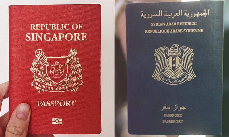 جواز السفر السنغافوري الأقوى عالميا والجواز السوري رابع الأسوأ (تعديل عنب بلدي)