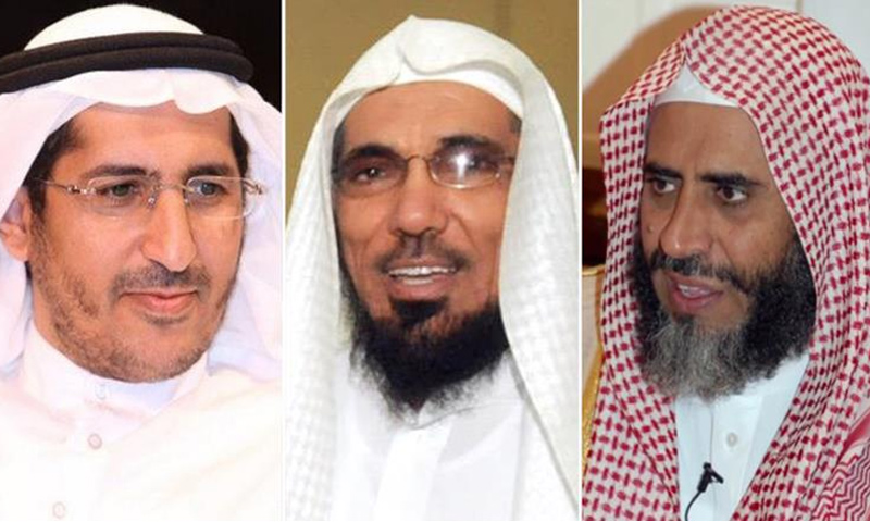 الدعاة السعوديون عوض القرني وسلمان العودة وعلي العمري (انترنت)