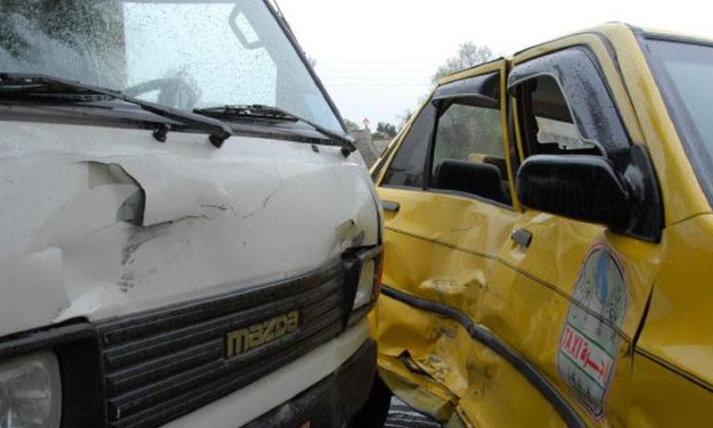 حادث على طريق حرستا (الوطن أونلاين)