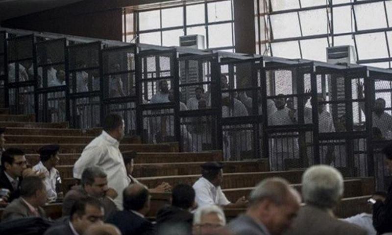 المتهمون بأحداث فض اعتصام رابعة عام 2013 (فيس بوك)