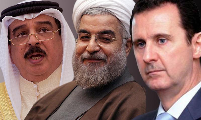 رؤساء النظام السوري وإيران والبحرين - (تعديل عنب بلدي)