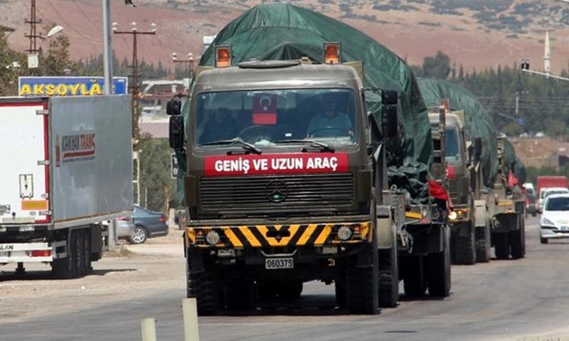 تعزيزات من الجيش التركي إلى الحدود مع سوريا - 11 من أيلول 2018 (الأناضول)