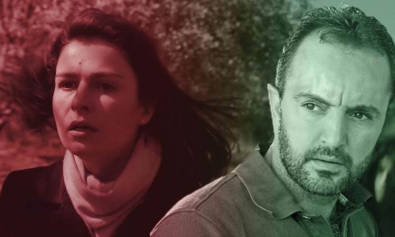 المخرج الليث حجو والممثلة سوسن أرشيد (تعديل عنب بلدي)