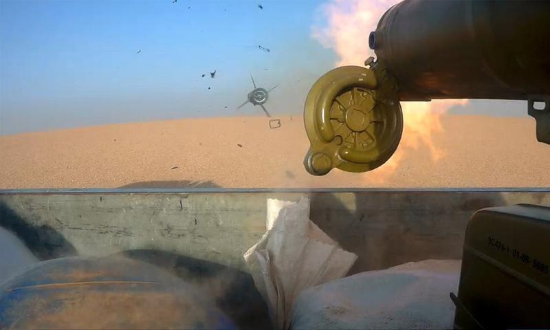صاروخ موجه أطلقه عنصر من تنظيم الدولة على موقع لقسد في ريف دير الزور - (أعماق)