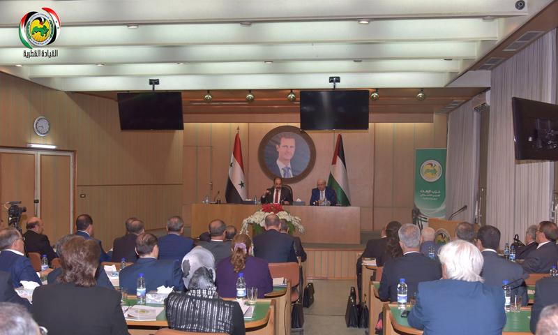 اجتماع اللجنة المركزية لحزب البعث- الأحد 7 تشرين الأول (صفحة الحزب في فيس بوك)