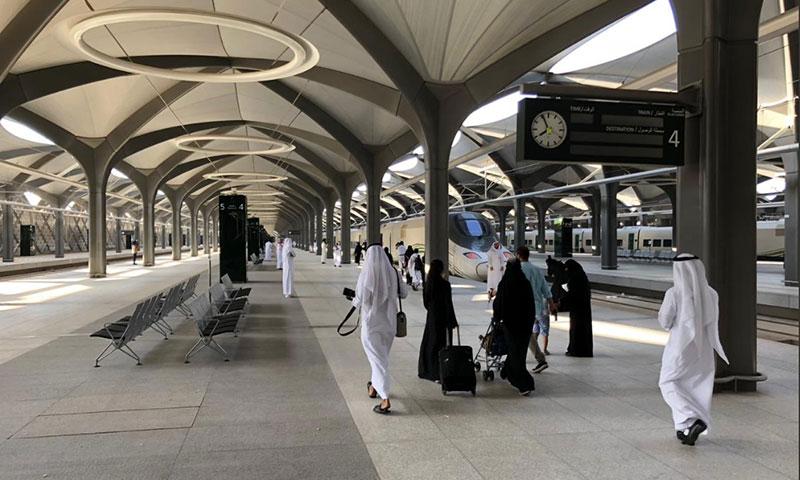 انطلاق أولى رحلات قطار الحرمين السريع 11/10/2018 (هيئة النقل العام تويتر)