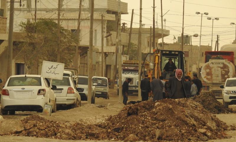 تأهيل طريق دابق الرئيسي في ريف حلب الشمالي - 17 من تشرين الأول 2018 (عنب بلدي)