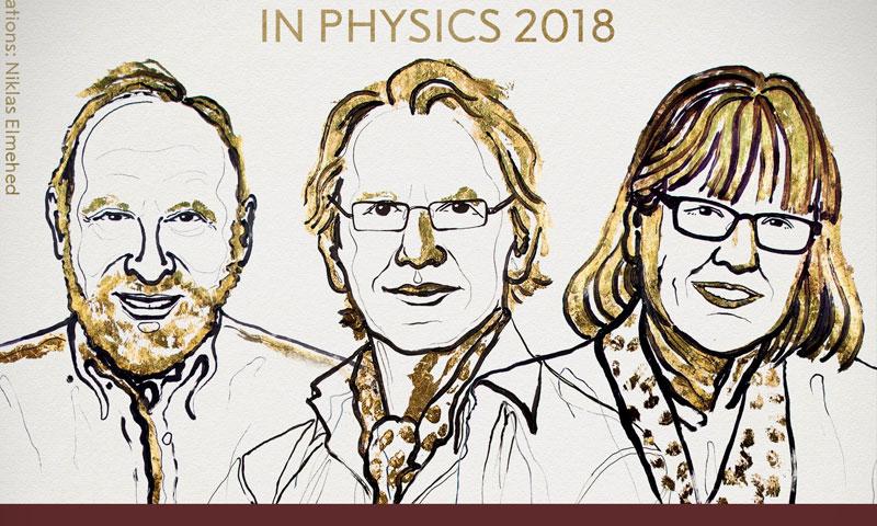 الفائزون الثلاثة بجائزة نوبل للفيزياء (جوائز نوبل تويتر)