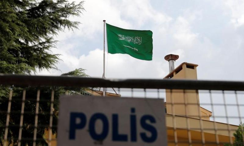 القنصلية السعودية في اسطنبول- 12 تشرين الأول 2018 (رويترز)