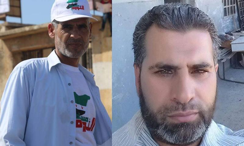 الناشطان أحمد عبد الكريم السليمان ومحمد محمود الزين - (فيس بوك)