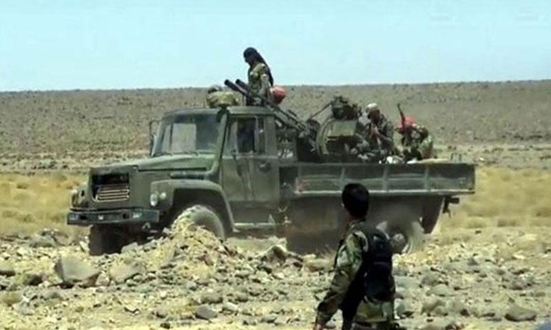 قوات الأسد في بادية السويداء (وكالة سانا)