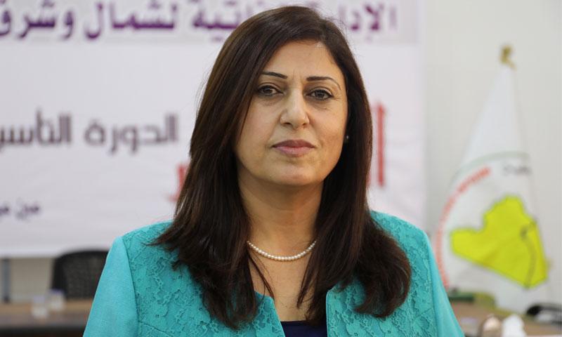 """الرئيسة المشتركة لـ """"مسد""""أمينة عمر (وكالة هاوار)"""
