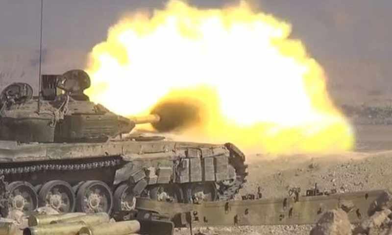 قوات الأسد في بادية السويداء (سانا)