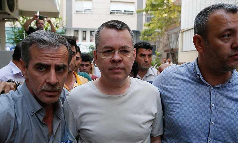 القس الأمريكي آندرو برانسون، المحتجز في تركيا (الأناضول)
