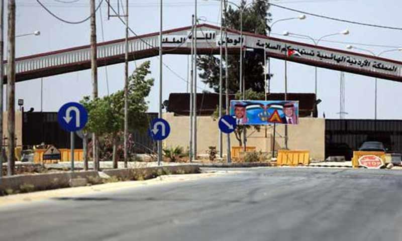 معبر جابر نصيب بين الاردن وسوريا (وكالة عمون)