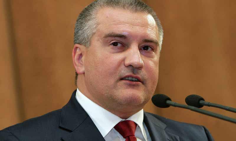 رئيس وزراء جزيرة القرم ، سيرجي أكسيونوف (سبوتنيك)