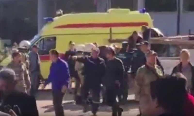 انفجار عبوة ناسفة في جزيرة القرم 17 تشرين أول 2018 (سبوتنيك)