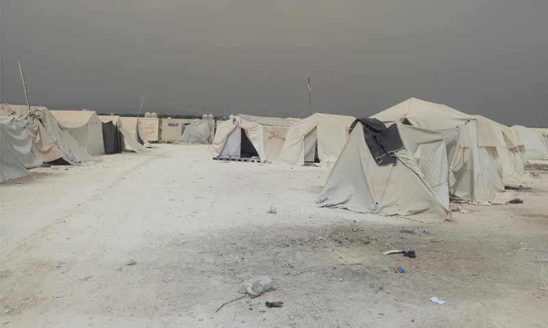 مخيم دير بلوط بريف عفرين شمالي حلب تشرين الأول 2018 (الناشط عمار الميداني)